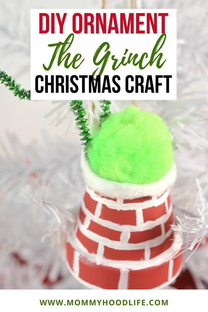 DIY Ornament Idea The Grinch Christmas Craft