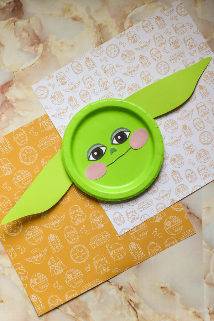 Baby Yoda Paper Plate Craft Idea