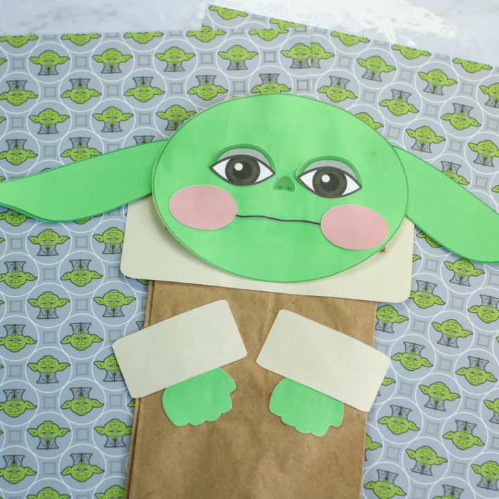 Baby Yoda Paper Bag Puppet