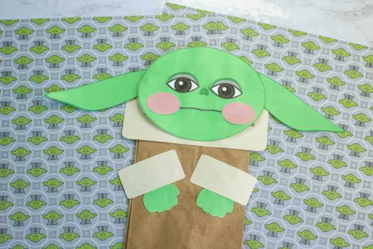 Baby Yoda Paper Bag Puppet – Easy Star Wars Craft for Kids