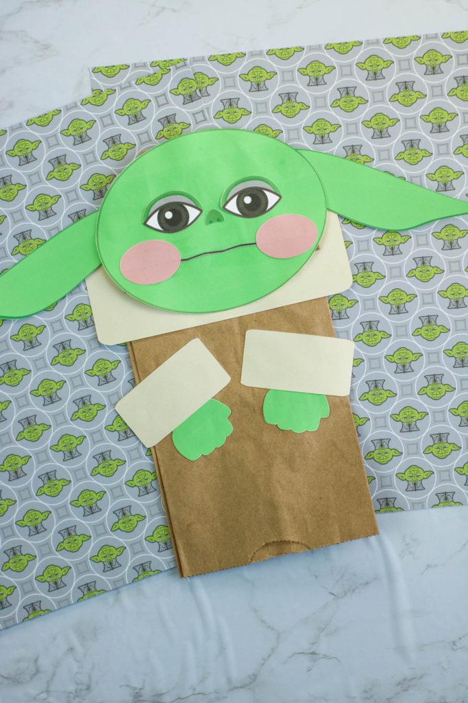 DIY Baby Yoda Puppet Craft