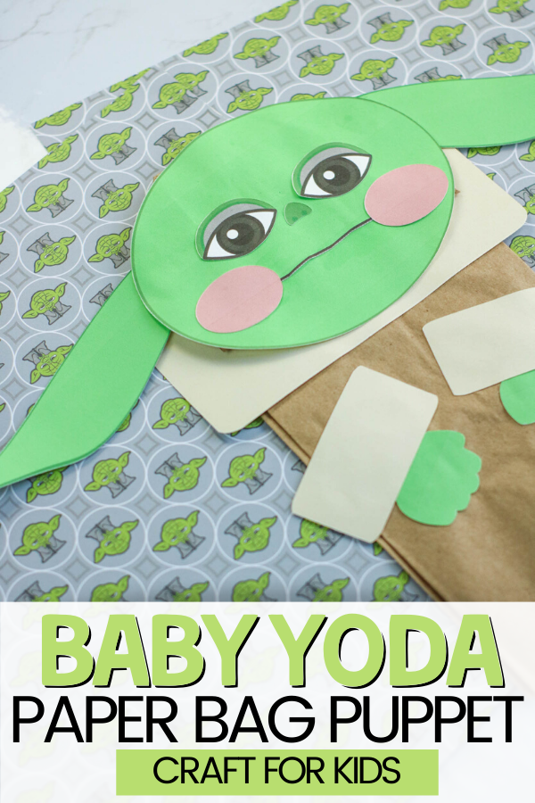 Baby Yoda Paper bag Puppet Craft