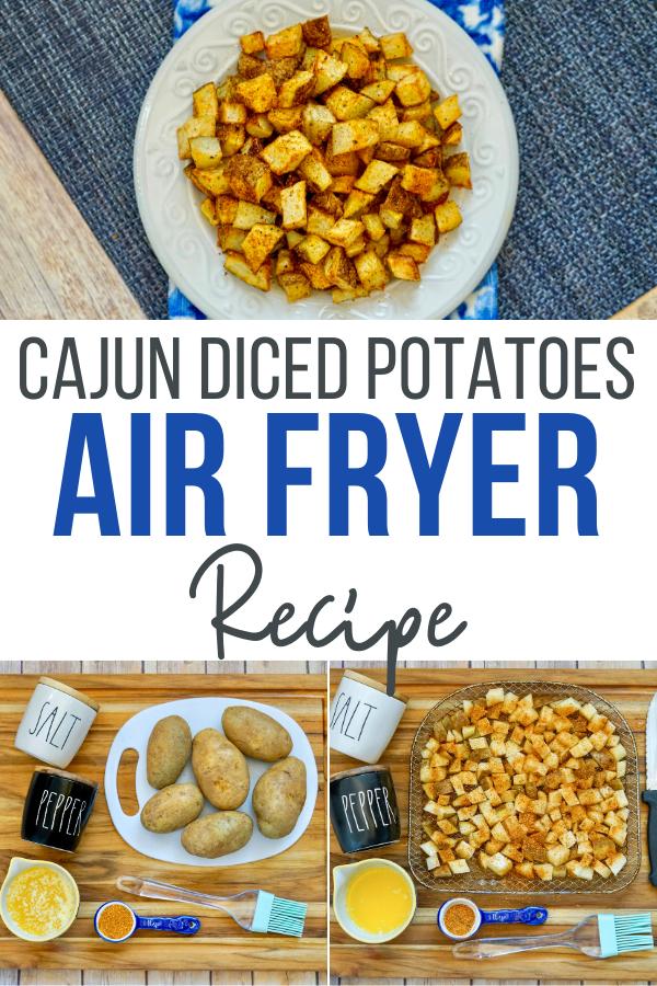 Cajun Air Fryer Diced Potatoes Recipe