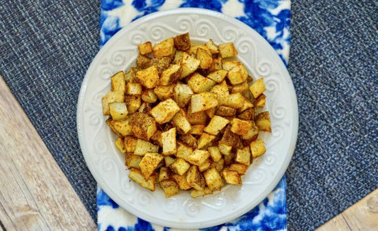 Cajun Air Fryer Diced PotatoesRecipe