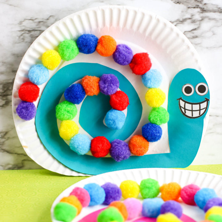 Snail Paper Plate Craft for Kids