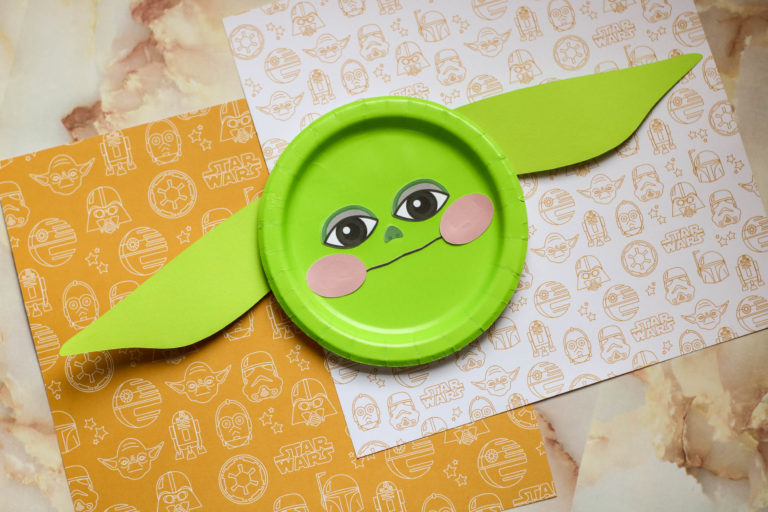 Baby Yoda Face Paper Plate Craft