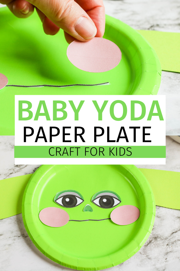 Yoda Paper Plate Craft for Kids