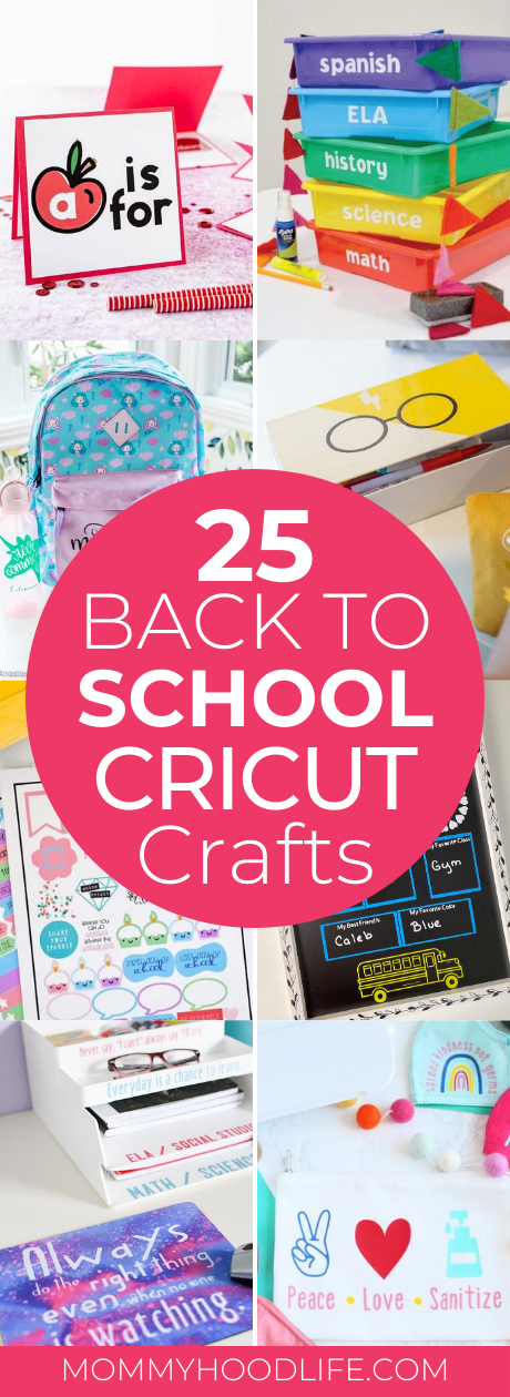 Back to School Crafts with Cricut
