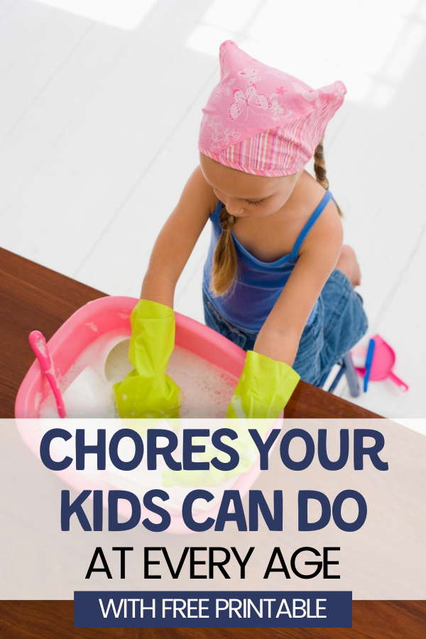 Chores for Kids at every age