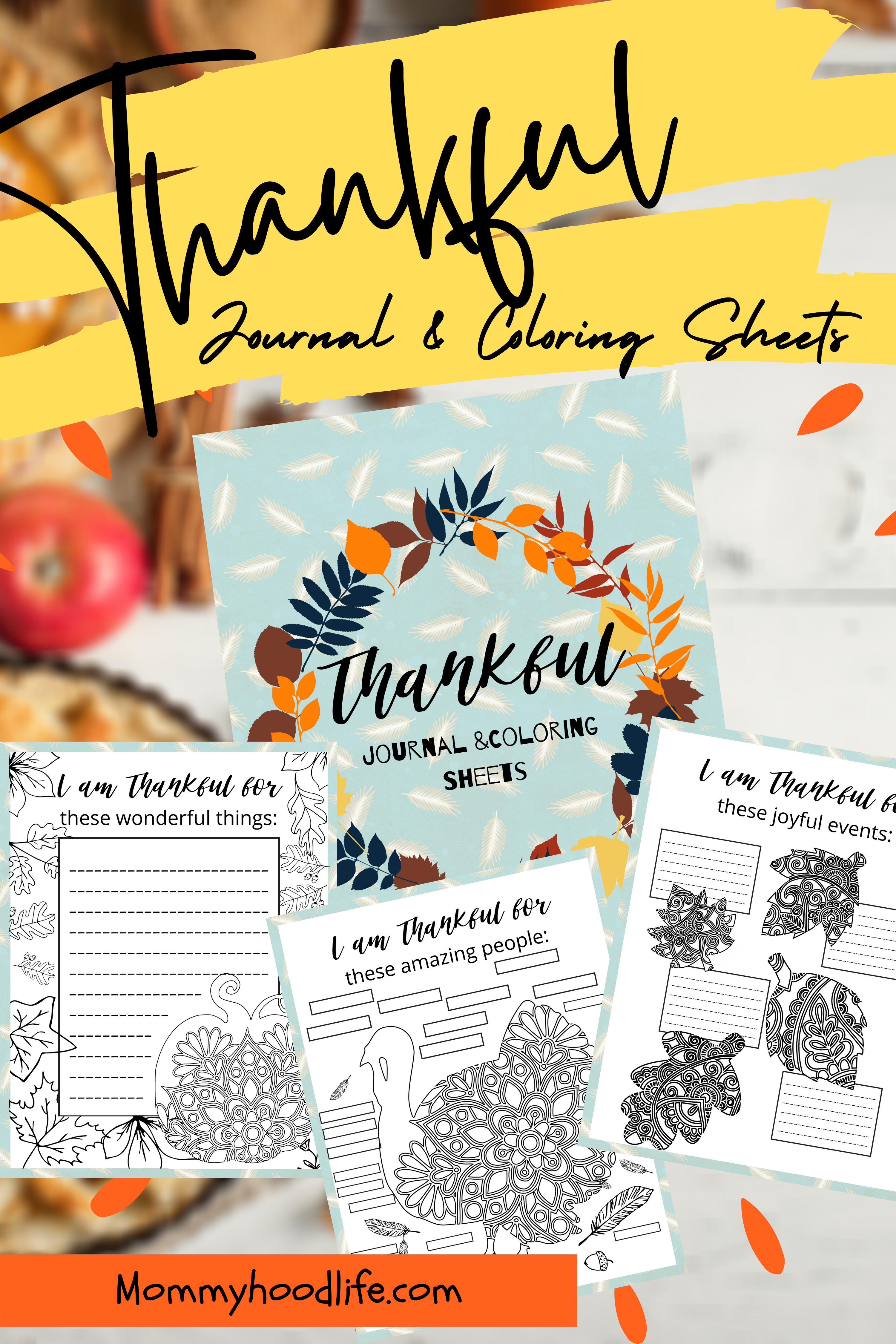 Free Printable Thankful Journal