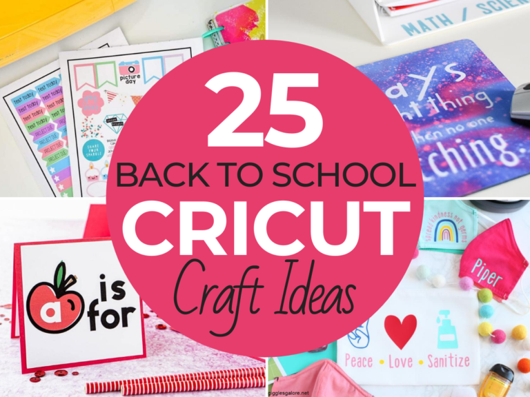25 Personalized Back to School Crafts to Make with Your Cricut Machine