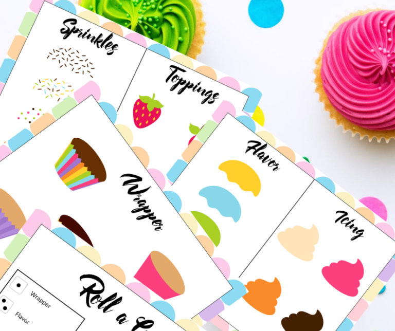 Roll a Cupcake Free Printable Game for Your Next Party