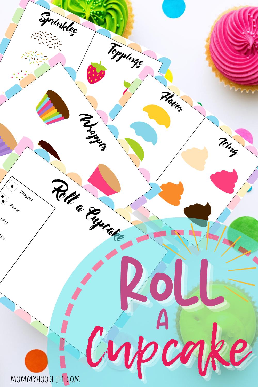 Roll a Cupcake Printable game