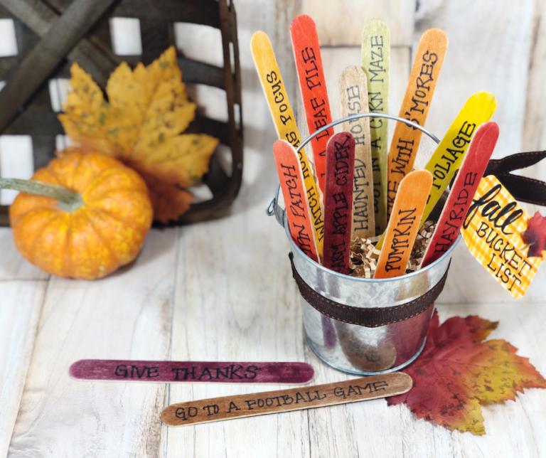 Fun Fall Bucket List Craft with Dollar Tree Supplies