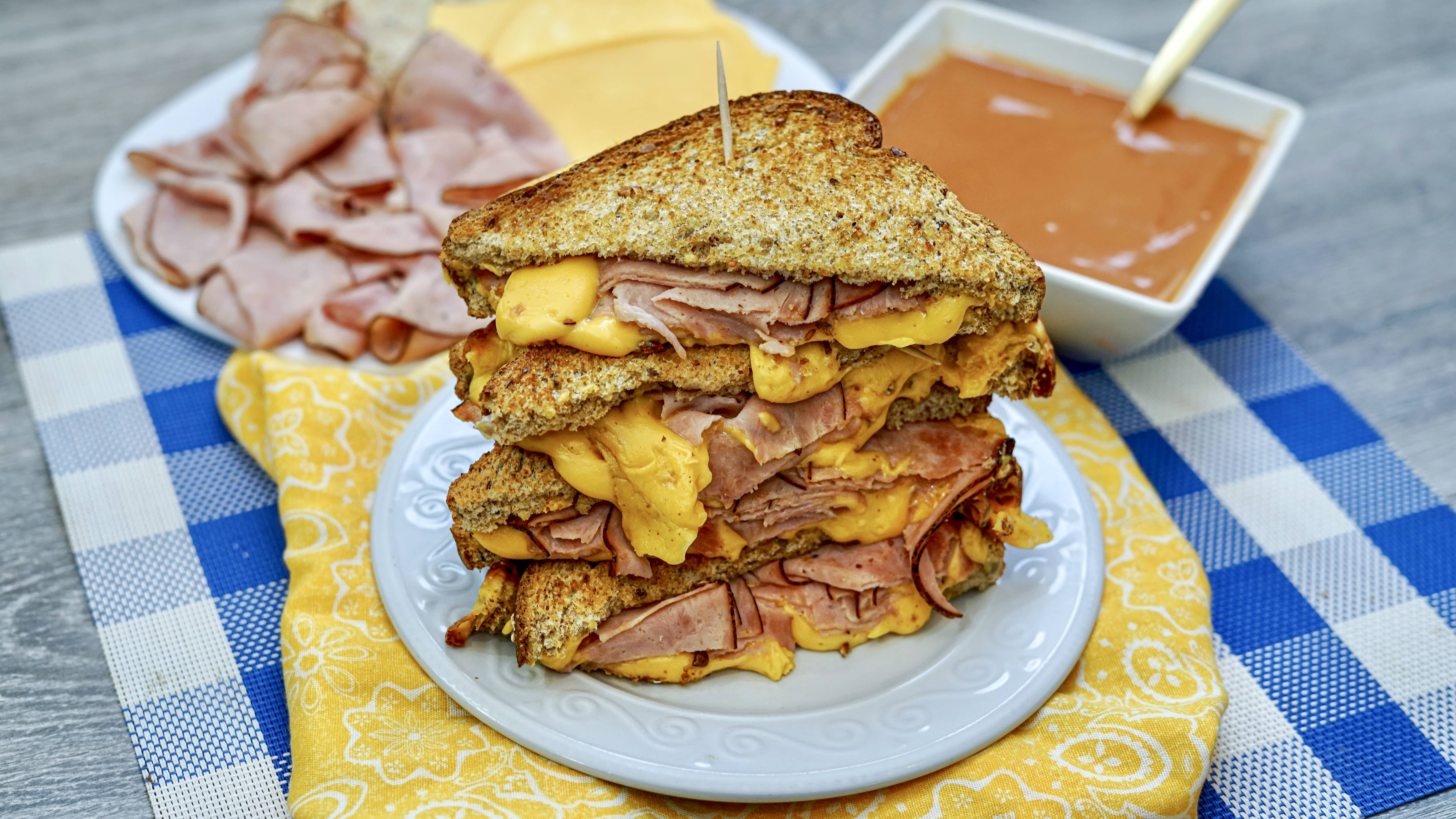 World's Best Air Fryer Grilled Ham and Cheese Sandwich Recipe