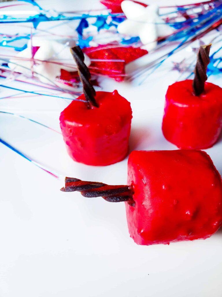 Patriotic TNT Marshmallow Firecrackers Recipe