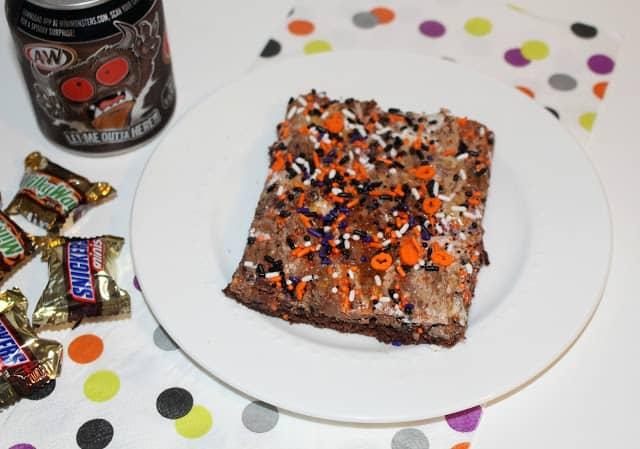 Halloween Candy Bar Brownies Recipe